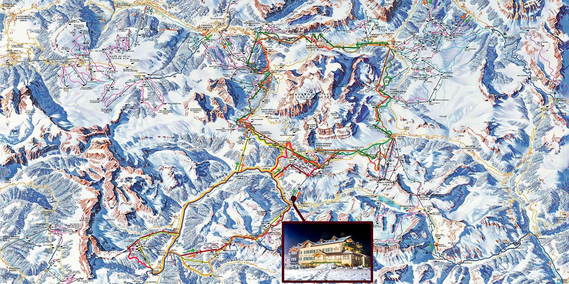 Mappa Sellaronda